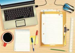 Image: Laptop, desk